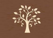 Декоративный вектор силуэта дерева стоковые фотографии rf