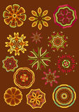 декоративный вектор цветков Стоковые Фото