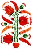 декоративный вектор цветков Стоковое Фото