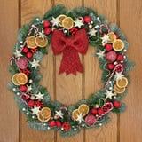 Декоративный венок рождества Стоковое Изображение RF