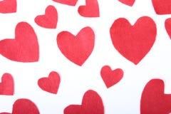 Декоративный войлок сердца для дизайна к дню валентинок Стоковая Фотография