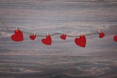 Декоративный войлок сердца для дизайна к дню валентинок Стоковые Изображения RF