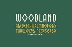 Декоративный геометрический шрифт Sans Serif в стиле handmade gr Стоковые Изображения RF