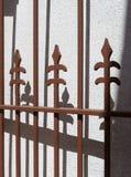 Декоративный железный строб стоковое изображение rf