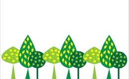 Декоративный зеленый цвет пущи на белой предпосылке бесплатная иллюстрация
