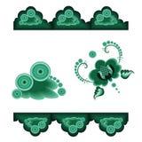 декоративный зеленый цвет элементов Стоковые Изображения