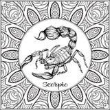 Декоративный знак зодиака на предпосылке картины бесплатная иллюстрация