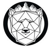 Декоративный значок медведя Стоковые Изображения RF