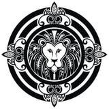 Декоративный значок льва Стоковые Изображения
