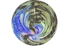 Декоративный и overlay тип иллюстрации grunge влияния фильтра, грубых или ретро круга или сферы иллюстрация вектора