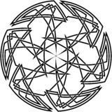 Декоративный кельтский узел Стоковое Изображение