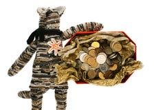 Декоративный кот с денежным ящиком Стоковые Изображения