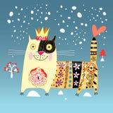 Декоративный кот Стоковые Изображения RF