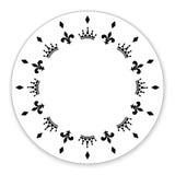Декоративный круг украшенный с символами, кроны Его можно использовать как рамка Стоковое Фото
