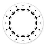 Декоративный круг украшенный с символами, кроны Стоковая Фотография RF