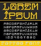 Декоративный новый шрифт татуировки школы Стоковое Изображение RF