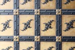 Декоративный орнамент выковал элементы строба Стоковое Изображение RF