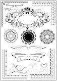 Декоративный орнамент граници Стоковые Изображения RF