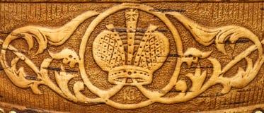 Декоративный орнамент на расшиве березы Стоковые Фото