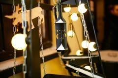 Декоративный орнамент с светами Стоковое Изображение RF