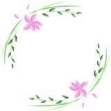 Декоративный орнамент с цветком, рамкой Стоковые Изображения RF