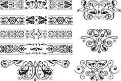 декоративный орнамент элементов Стоковые Фотографии RF