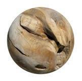 Декоративный ровный круглый деревянный шарик корня Стоковая Фотография RF