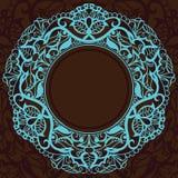 декоративный сбор винограда бирюзы квадрата рамки Стоковые Изображения RF