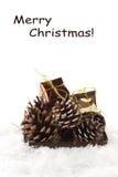 Декоративный состав рождества изолированный на белизне Стоковые Фотографии RF