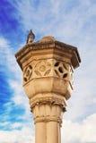 Декоративный столбец около строба кучи, Дубровника Стоковая Фотография RF