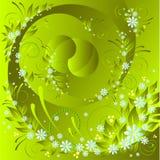 декоративный флористический вектор картины Стоковая Фотография RF