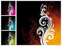 декоративный флористический орнамент Стоковые Фотографии RF