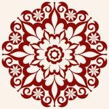 декоративный флористический орнамент Стоковое Фото