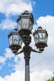 Декоративный фонарный столб улицы Стоковое Изображение RF
