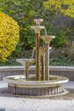 Декоративный фонтан в Солт-Лейк-Сити стоковые фото