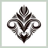 Декоративный флористический орнамент Стоковое Изображение