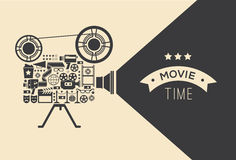 Декоративный шаблон кино стоковая фотография rf