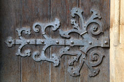 Декоративный шарнир двери стоковое фото