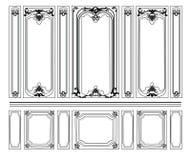 Декоративный штоф орнаментировал рамки для стен или предпосылок Стоковые Фото