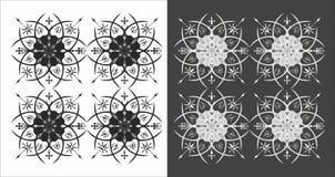 Декоративный элемент графика цветка иллюстрация вектора