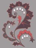 декоративный элемент флористический Стоковое Изображение RF