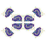 Декоративный элемент вектора - картины и орнаменты 1 Стоковое Фото