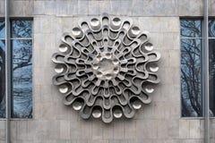 Декоративный элемент на стене в Киеве Стоковое фото RF