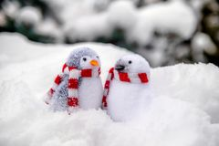 2 декоративных пингвина Стоковая Фотография