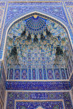 Декор мавзолея эмира Узбекистана Самарканда Gur-e стоковое фото