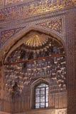 Декор мавзолея эмира Узбекистана Самарканда Gur-e стоковое изображение