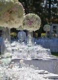 Декор таблицы свадьбы Стоковые Фотографии RF