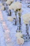 Декор таблицы свадьбы Стоковое Фото