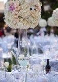 Декор таблицы свадьбы Стоковое Изображение