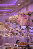Декор таблицы свадьбы Стоковое Изображение RF